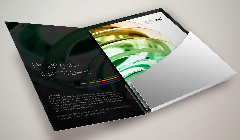 SingEx Brochure – Folder with Brochure
