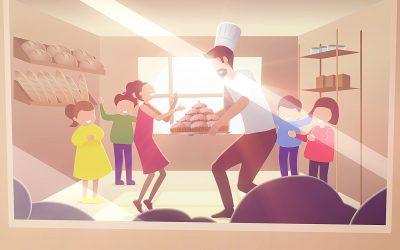 'The Baker & The Robot' 2d Explainer Animation